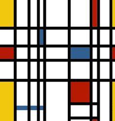 Piet Mondrian seamless tile.
