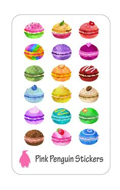 Macaron Planner Stickers by PinkPenguinStickers on Etsy