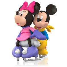 2015 Hallmark It Takes Two Mickey & Minnie Mouse Ice Skating Ornament  Love  Fun #Hallmark