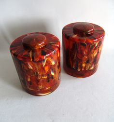 BAKELITE FLAME EFFECT CONTAINERS