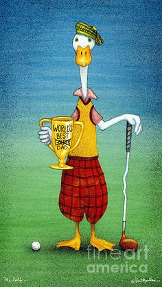 by Will Bullas - Mr Golf. Fine Art Prints and Posters for Sale Saul Bass, Ping Golf Clubs, Golf Painting, Pop Art, Fine Art Prints, Canvas Prints, Golf Head Covers, Miniature Golf, Feather Art