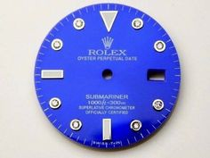 Watches for Parts 165144: Rolex Submariner S-S Blue Color 8 Round Diamond Dial And Bright Luminous Mark -> BUY IT NOW ONLY: $160.0 on eBay!