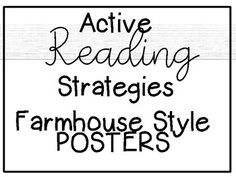 School Office Organization, Reading Strategies Posters, Black And White Posters, Cause And Effect, Inference, Guided Reading, Classroom Decor, Farmhouse Style, Country Style