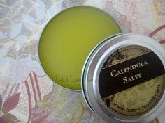 Calendula Salve Natural and Organic for cuts scrapes diaper rash | FadedLeaves - Bath & Beauty on ArtFire
