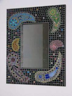 Paisley mosaic mirror by glasssmarts on Etsy, $250.00