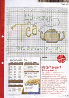 With enough tea...cross stitch