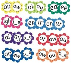 I think i could make these--Daisy Vowel Digraphs and Spelling Patterns (2 Sets of 12 Daisies)
