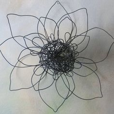 WallFlower Wire Sculpture by birdfromawire on Etsy, $26.00