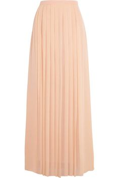 pleated silk crepe de chine maxi skirt by Tibi