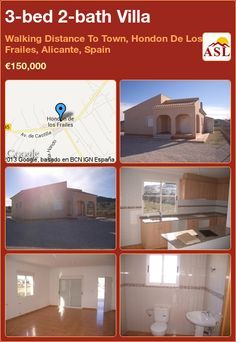 3-bed 2-bath Villa in Walking Distance To Town, Hondon De Los Frailes, Alicante, Spain ►€150,000 #PropertyForSaleInSpain