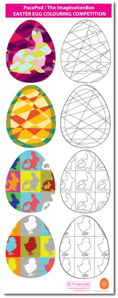 Easter Egg Colouring Competition templates