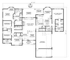 house floor plans with inlaw suite: Design Your New Home For Rental Income Time To Build House Floor Plans In Law Suite Family Bedrooms Are Located On The Opposite Side Of A Turn Garage Creates Drivewa Family House Plans, Dream House Plans, House Floor Plans, The Plan, How To Plan, Plan Design, Home Design, Eco Casas, European Plan