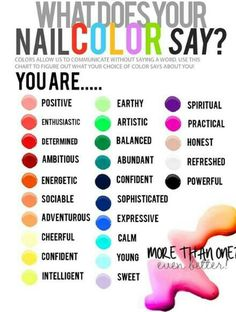 What does your nail color say? Can be used for interviews too for an extra superstitious boost :D #nailideas