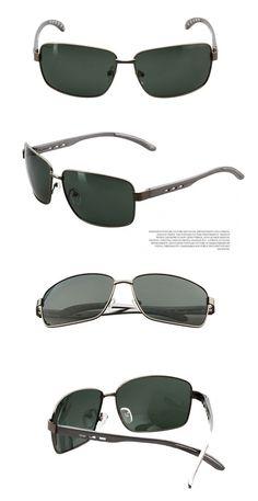 445a8ea34 2015 marca De fábrica famosa diseñador hombres polarizado De conducción  gafas De sol del deporte al