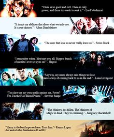 Let us explore amazing quotes read/heard in Harry Potter from all 7 movies/books. Enjoy! c: Tell me is you do....and if you don't enjoy.