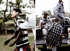 Mum and pups, Suho, Chen, Baekhyun and Chanyeol playing in the mud!! | EXO Dear Happiness photobook 2016 ♥