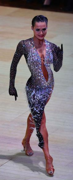 Bejeweled and begloved Latin Ballroom Dresses, Ballroom Costumes, Ballroom Dance Dresses, Dance Costumes, Latin Dresses, Ballroom Dancing, Salsa Dress, Dance Fashion, Dance Outfits