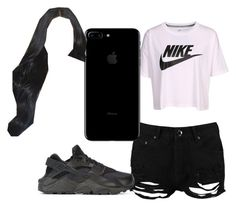 """""""😂😂😂😁😬😀😆😇"""" by pettyallthe on Polyvore featuring beauty, NIKE and Boohoo"""