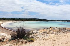 Son Saura beach in Menorca is a secluded and stunning beach. Menorca Beaches, Jewel, Traveling, Around The Worlds, Island, In This Moment, Water, Outdoor, Ideas