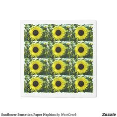 Sunflower Sensation Paper Napkins