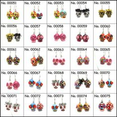Skull Earrings Day of the Dead Calavera Jewelry   gOOdiemud