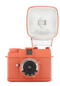 Special Edition Diana Mini Camera in Coral Fusion, #ModCloth