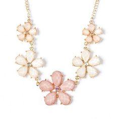 Gem Flowers Bib Necklace | Claire's