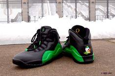 Custom Nike Air Jordan Retro X OREGON Quack