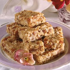 """Fig Bars: The flavor of this portable dessert may remind you of a Fig Newton without the outer cookie layer."" From ""The Complete Step-by-Step Low Carb Cookbook,"" Oxmoor House, 2005, via ""MyRecipes,"" this is a diabetic-friendly dessert. See more in a collection here: http://www.myrecipes.com/special-diet/diabetic-recipes/diabetic-desserts-00420000001200/"