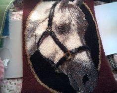 HORSE LOVERS LATCH Hook Rug Beautiful Plush by CathysCraftWorld