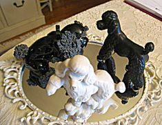Vintage poodle dog figurine trio for sale at More Than McCoy on TIAS!