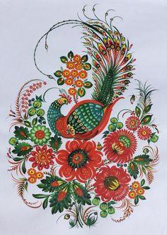 Автор: Maria Yanenko - Firebird - 2014-2015 - 42.5x61 cm - tempera on paper  Марія Яненко — Жар-птиця — 2014 — 2015 pp. — темпера на папері