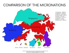 Maps on the Web — Comparison of the Micronations.