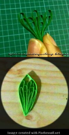 Butterfly-wing Leaf---Part 3 of 3)---written directions on post---http://ajourneyintoquilling.blogspot.com/2013/01/new-quilling-technique-tutorial.html