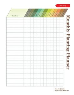 Print This Free Garden Planner: Monthly Garden Planner