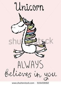 Find Magic Unicorn Card Vintage Vector Typography stock images in HD and millions of other royalty-free stock photos, illustrations and vectors in the Shutterstock collection. Unicorn Crafts, Unicorn Art, Happy Cartoon, Girl Cartoon, Nursery Pictures, Wall Pictures, Unicorn Illustration, Unicorn Quotes, The Last Unicorn