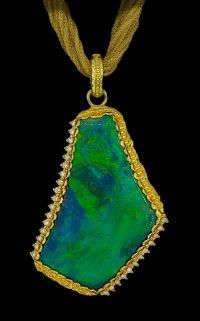 Victor Velyan Australian Black Opal Pendant
