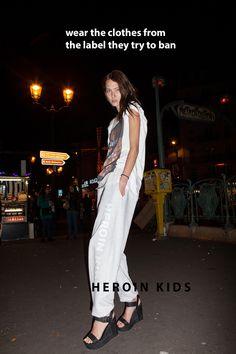 #HEROINKIDS - Paris - Streetwear - #TiredChic #HeroinChic #Berlin www.Store-HeroinKids.com #Fashion