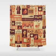 Add a little Hogwarts flavor to your bathroom with this Harry Potter themed shower curtain.