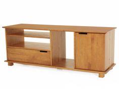 Compacto e cheio de espaços para guardar tudo o que você precisa neste ambiente, ele é moderno e de fácil combinação com qualquer estilo decorativo. Conta com três nichos para guardar os eletrônicos, uma gaveta para guardar DVDs, revistas, etc e um compartimento especial em uma portinha na parte direita. Tal porta conta com três prateleiras e com dois nichos no interior: espaço de sobra para você manter sua sala de TV sempre organizada. Rack produzido em madeira de Pinus de floresta…