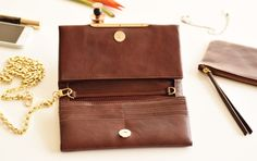Leather wallet women Brown leather wallet por TheLeatherExpert