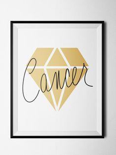 Cancer Diamond Print