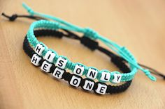 Couples Bracelets Set His Only Her One Bracelets by BlessedCouples, $17.99