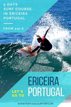5 DAYS SURF COURSE IN ERICEIRA   PORTUGAL what is included: ~ 5 surf lessons with certified local instructors  ~ full & quality surf equipment  ~ beach transfer to the best surf spot #ericeira #portugal #surf #course #surfing #vacation #surfHoliday #active #vacation #with #portugalsurftrip Ericeira Portugal, Best Surfing Spots, Surf Trip, Yoga Retreat, Have Fun, Explore, Vacation, Beach, Holiday