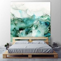 Decorate your room in a new style with murphy bed plans Contemporary Abstract Art, Modern Art, Drawn Art, Murphy Bed Plans, Murphy Beds, Decorate Your Room, Home Wall Decor, Bedroom Decor, Art Auction