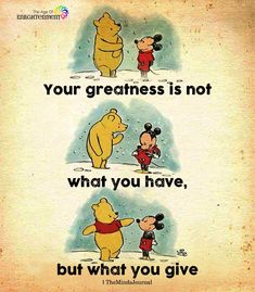 Some people need to understand what true friendship is. It is not taking, it is giving Good Life Quotes, Cute Quotes, Quotes To Live By, Best Quotes, Happiness Quotes, Smile Quotes, Happiness Is, Cute Winnie The Pooh, Winnie The Pooh Quotes