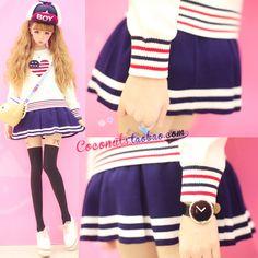 ★ Super Especial Meng personalizada exclusiva tejer marinero marino falda uniforme japonés del otoño y el invierno 2014 de la universidad de las mujeres