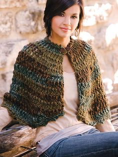 Crochet - Holiday & Seasonal Patterns - Autumn Patterns - Rustic Capelet