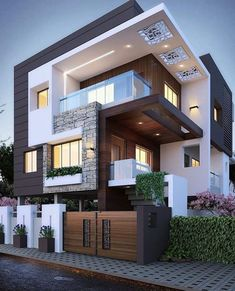 Top 10 cozy houses in the Modern style House Designs Exterior Cozy houses modern. - Top 10 cozy houses in the Modern style House Designs Exterior Cozy houses modern style Top - Bungalow House Design, House Front Design, 3 Storey House Design, Double Storey House, Modern Bungalow, Architecture Résidentielle, Architecture Geometric, Amazing Architecture, Chinese Architecture