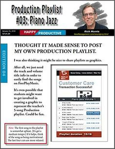 15 minutes of solid music to get your students in the production zone in the classroom. Make work time fun and focused!